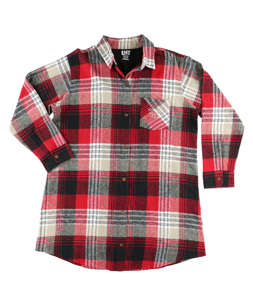 Country Plaid Flannel Nightshirt