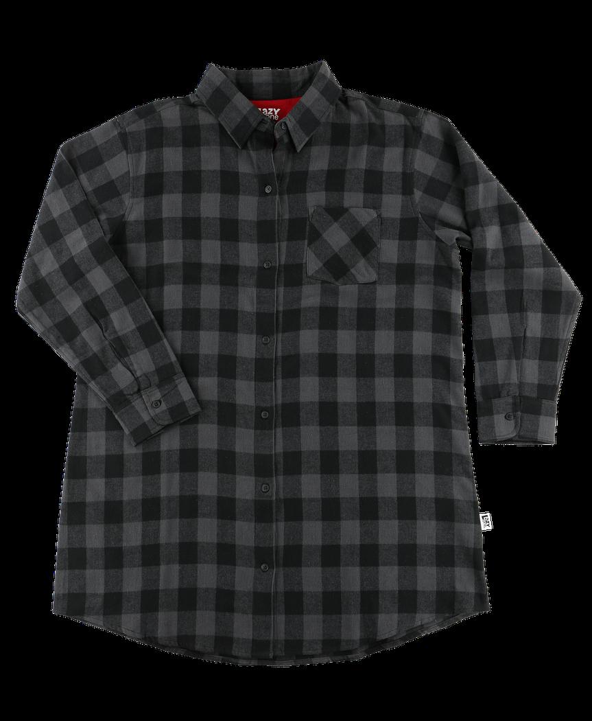 Grey Plaid Flannel Nightshirt ab41ff6d2