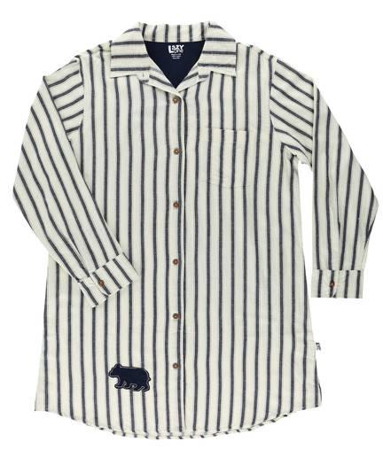 17736c7474 Ticking Bear Button Down Night Shirt
