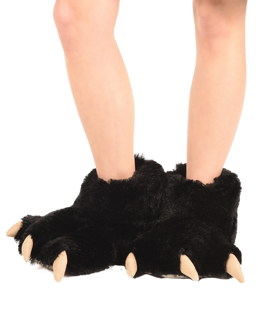 get cheap factory authentic cute Black Bear Paw Slipper | LazyOne