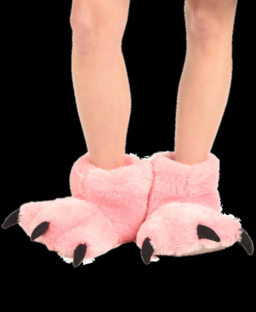 2727e91ae3c Pink Bear Paw Slipper