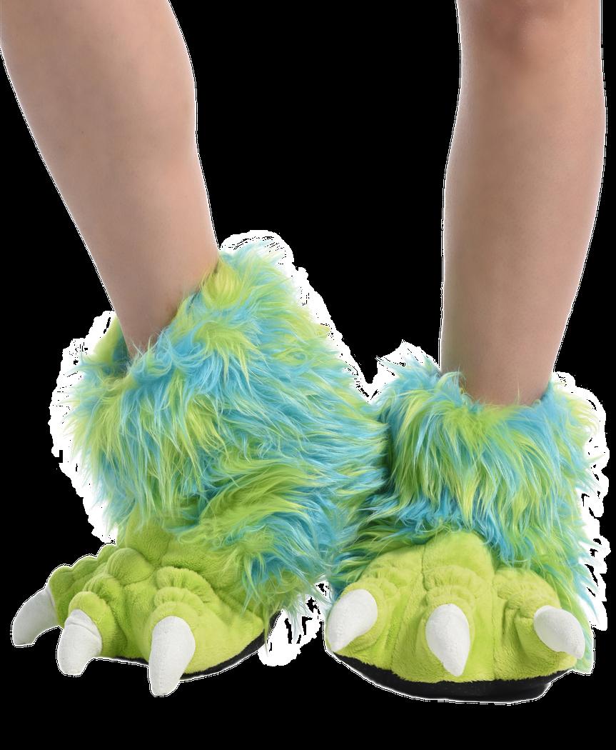 d69b018b900ae Green Monster Paw Slipper