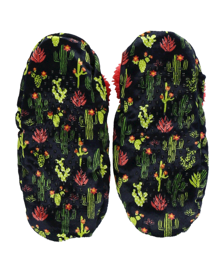LazyOne Womens Cactus Fuzzy Feet Slippers Adult