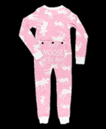 4572b146bd Classic Moose Pink Kid Onesie Flapjack