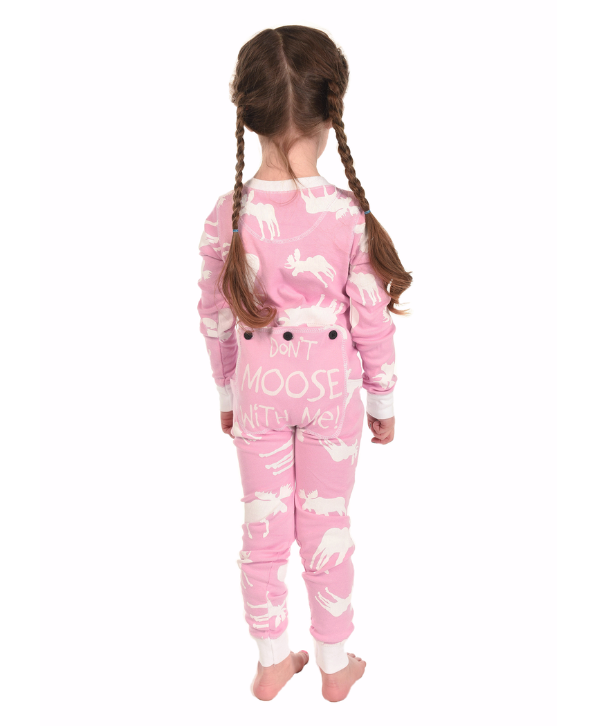 134cd12d1040 Classic Moose Pink Kid Onesie Flapjack