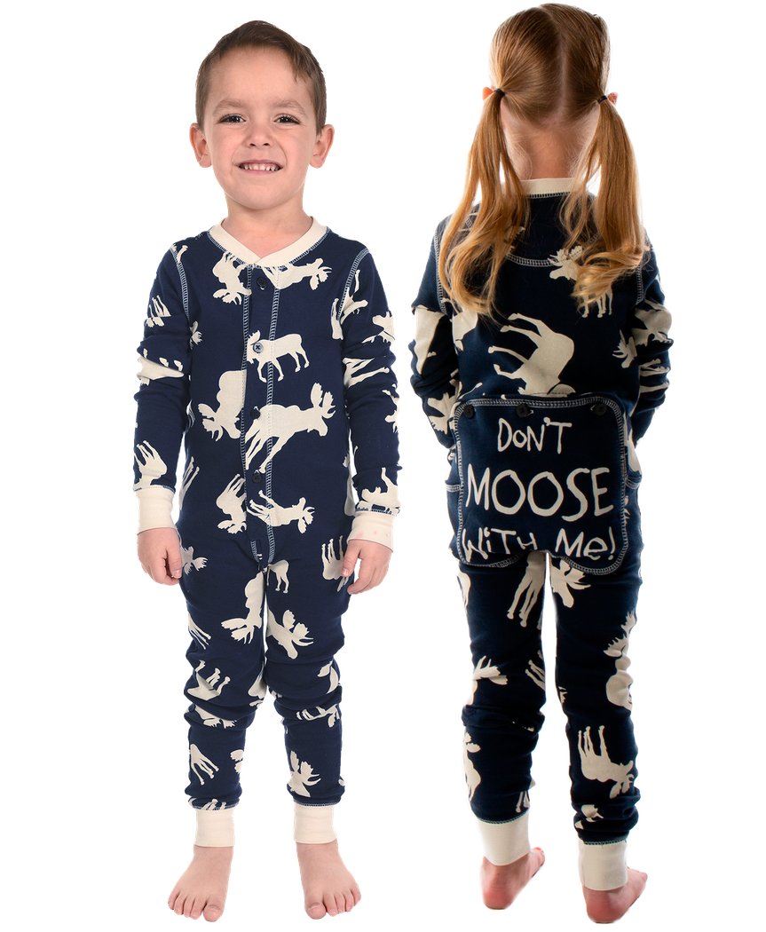 b04aa8b9a3 Classic Moose Blue Kid Onesie Flapjack