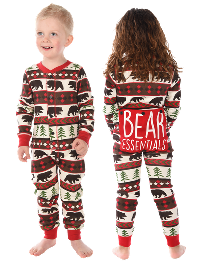 Christmas Footie Pajamas For Kids.Matching Kids Christmas Pajamas Cute Comfy Fun Lazyone