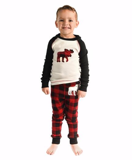 05d02f6605 Moose Plaid Family Matching Pajamas