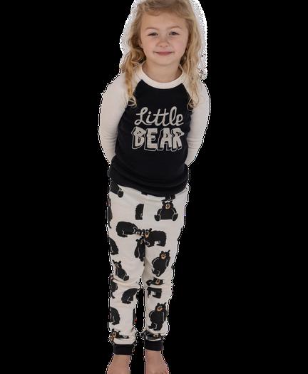 "Girls Long Sleeve Pajama Set /""BEAR HUG BRAND NEW 2T 3T Lazy One 4T"