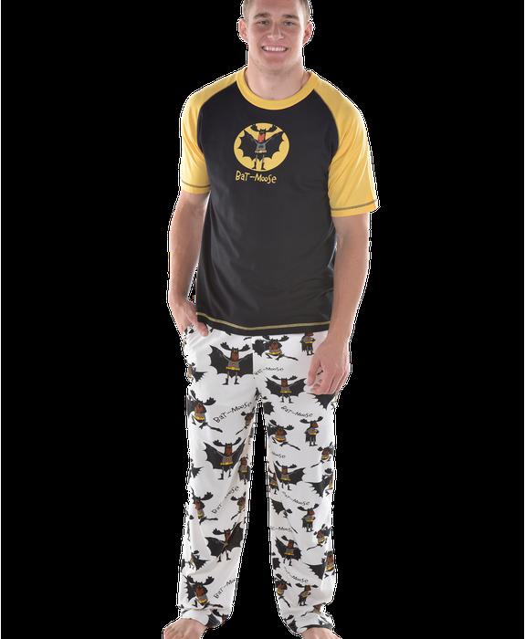 Bat Moose Men S Pajama Set Lazyone