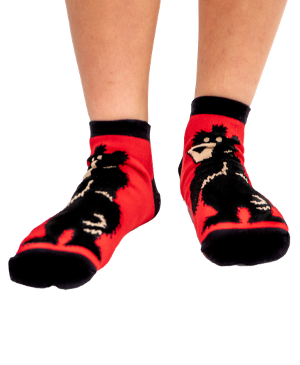 LazyOne Unisex Unstable in the Morning Adult Slipper Socks One Size