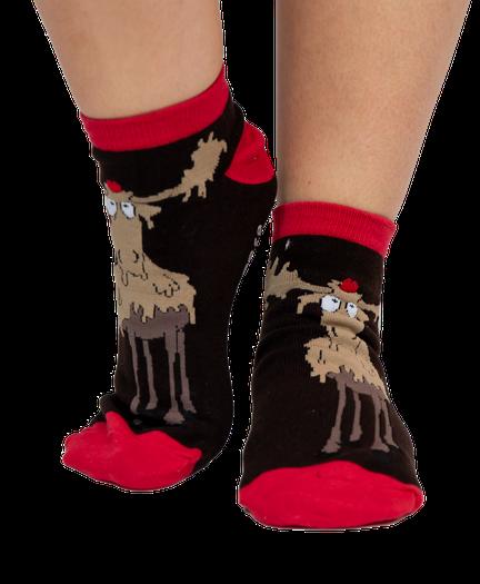 LazyOne Unisex Need a Moose-age Adult Slipper Socks One Size