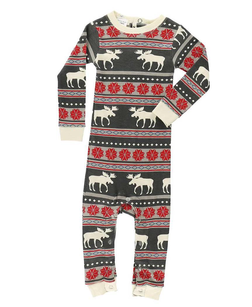 Moose Fair Isle Union Suit Lazyone