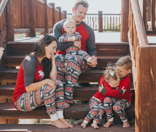 Family In Matching Fair Isle Pajamas