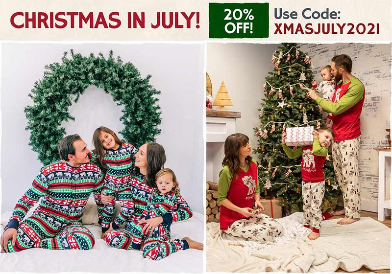Christmas In July - Family Matching Pajamas