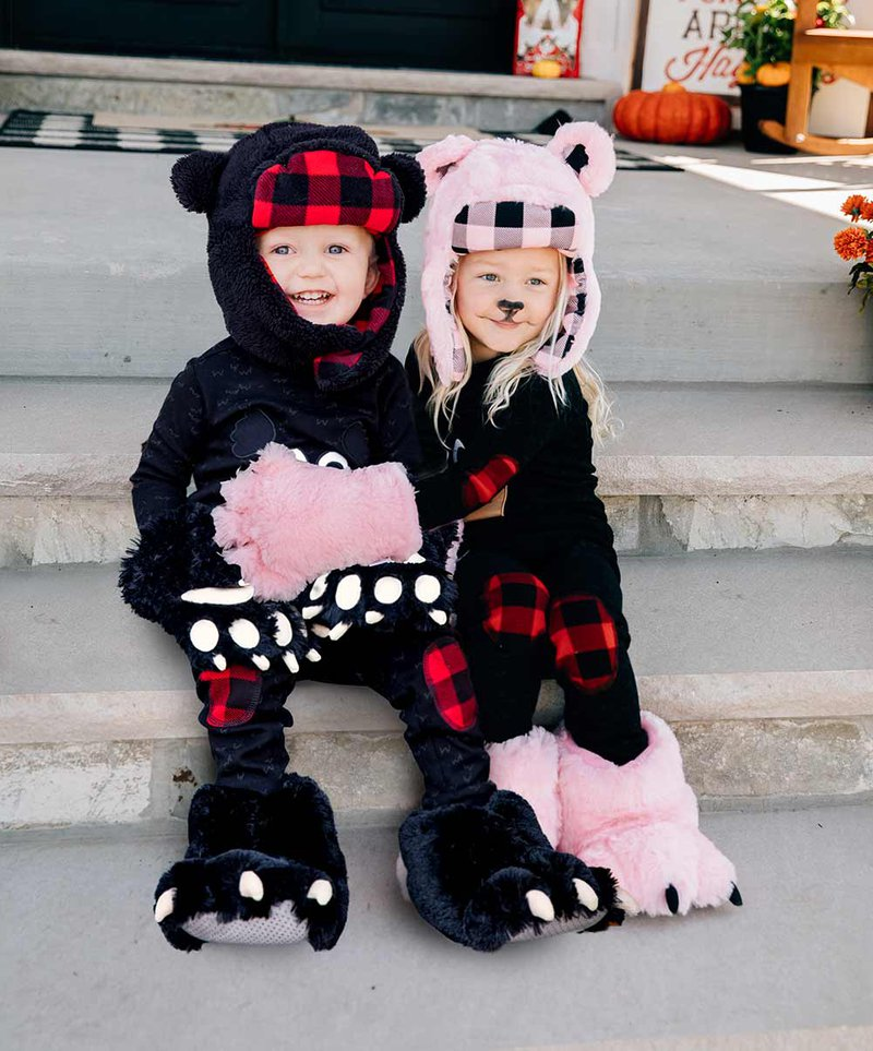 Kid's Black and Pink Bear Costume