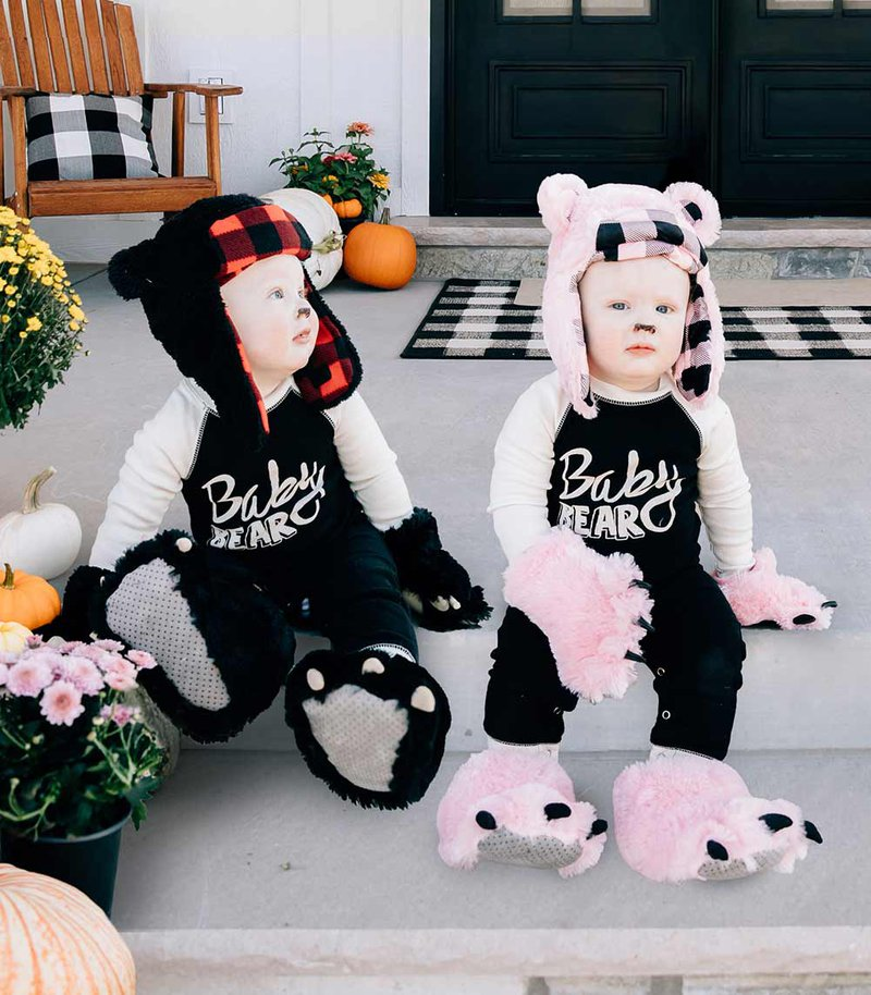 Baby Black and Pink Bear Costume