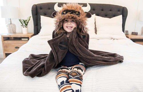 buffalo hooded blanket