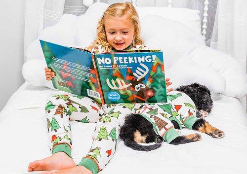 reading in pajamas