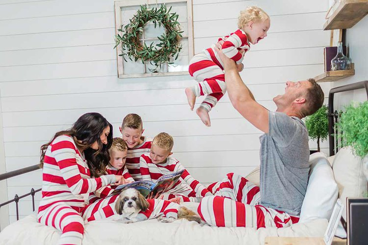 country stripe pajamas