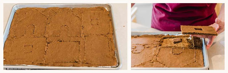 cutting gingerbread patterns
