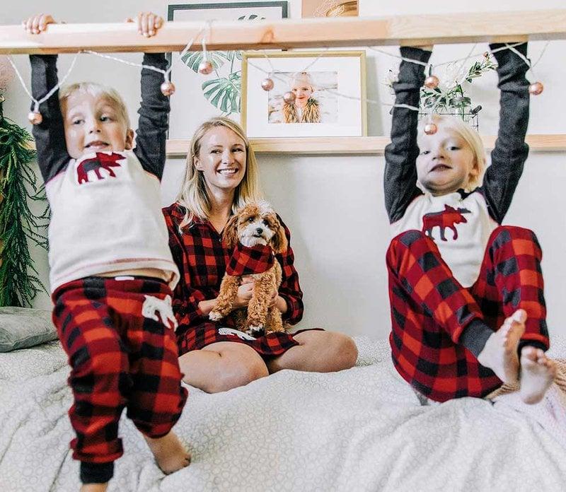 dog bandana with family