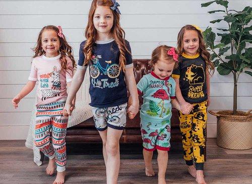 pajama fashion show with the kids