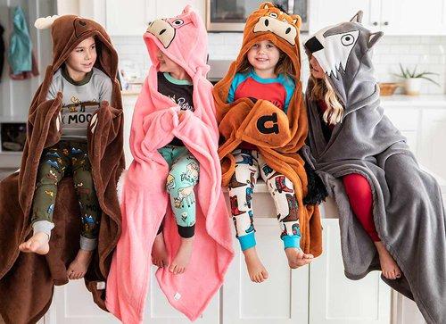 Kids in Hooded Blankets