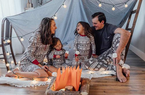 indoor camping adventure with family