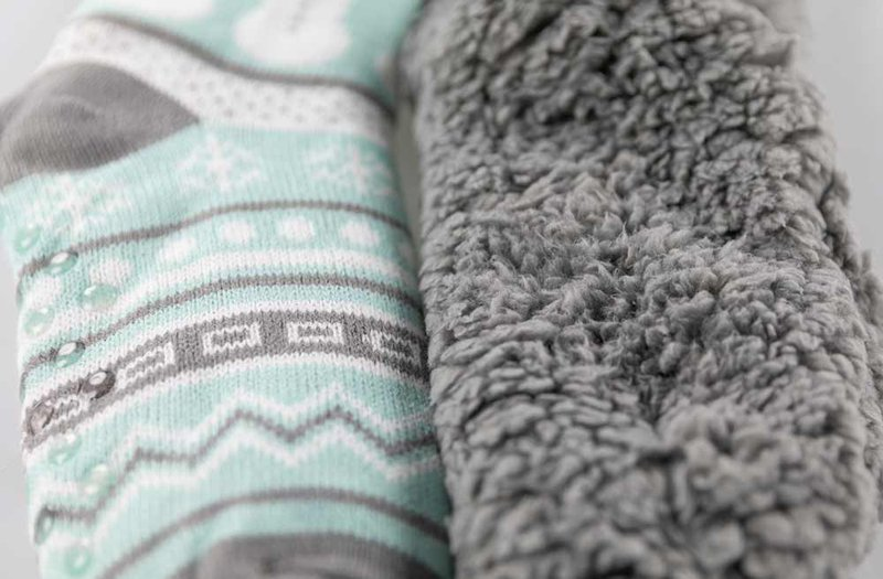 inside of plush sock