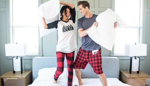 Men's Pajama shorts pillow fight
