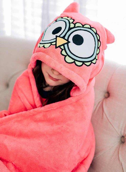 owl hooded blanket