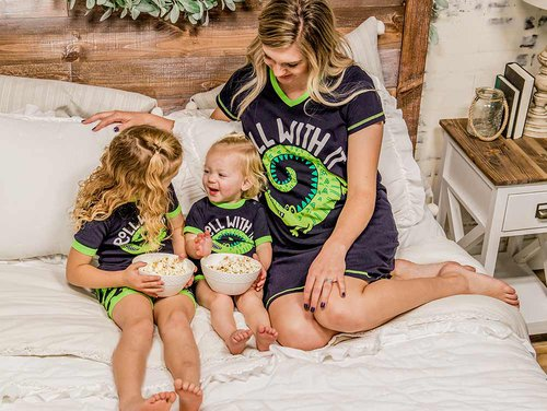 Roll With It Kids Pajama Short Sets