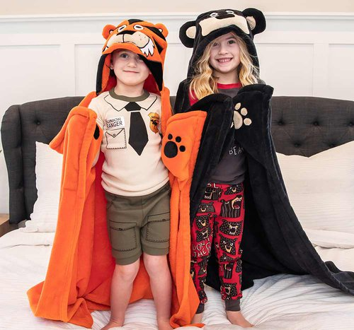 Tiger Hooded Blanket