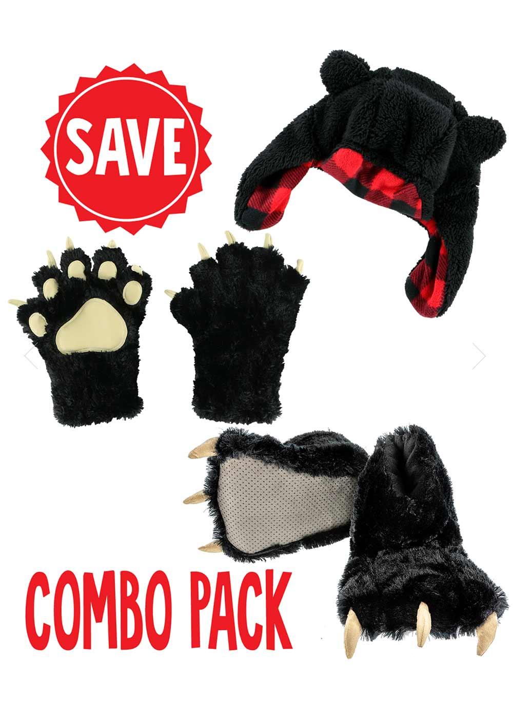 Link to https://www.lazyone.com/animal-paw-slippers