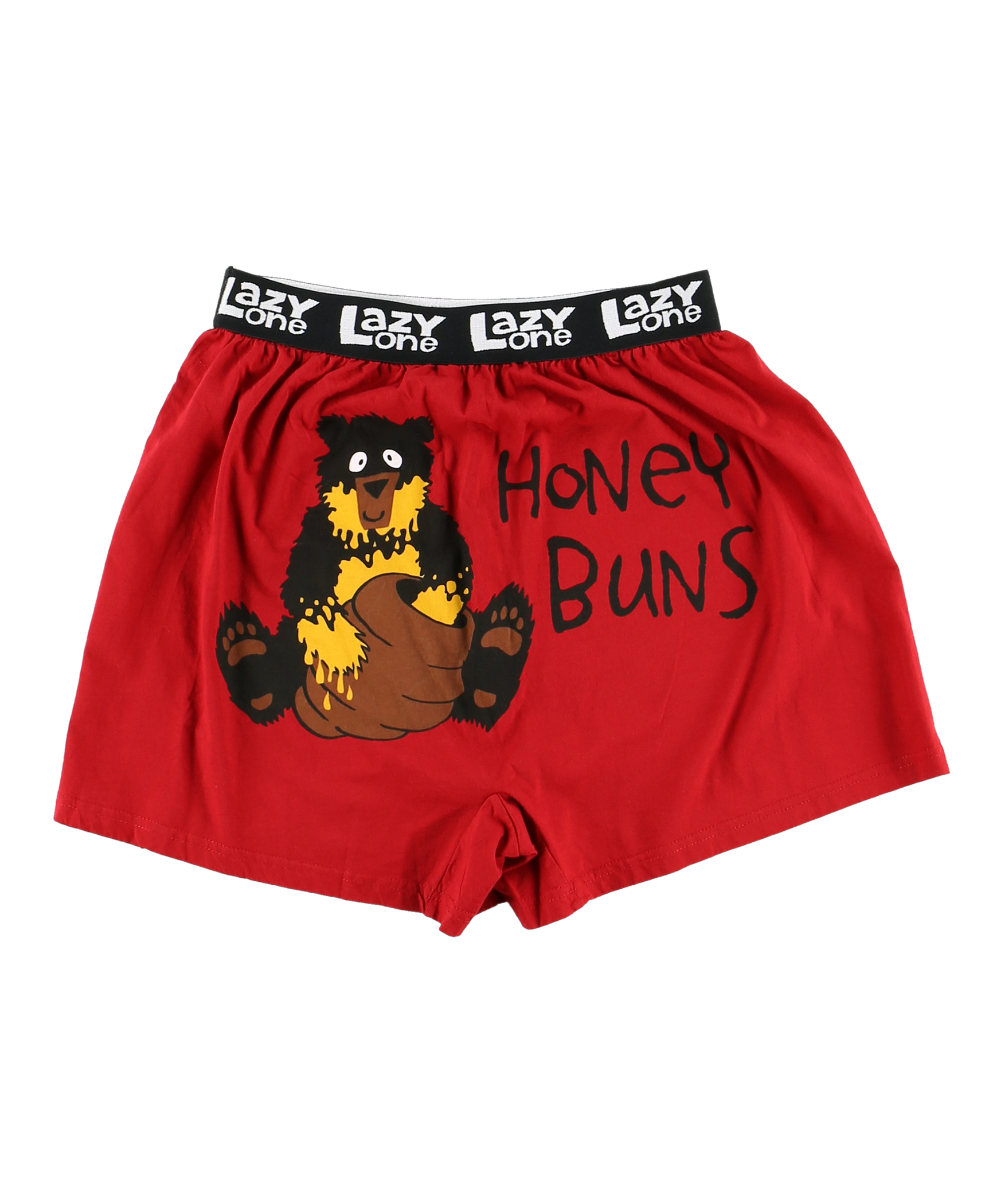 LAZY ONE MENS SIZE XLARGE 40-42 RED BEAR HONEY BUNS BOXERS NEW #19470