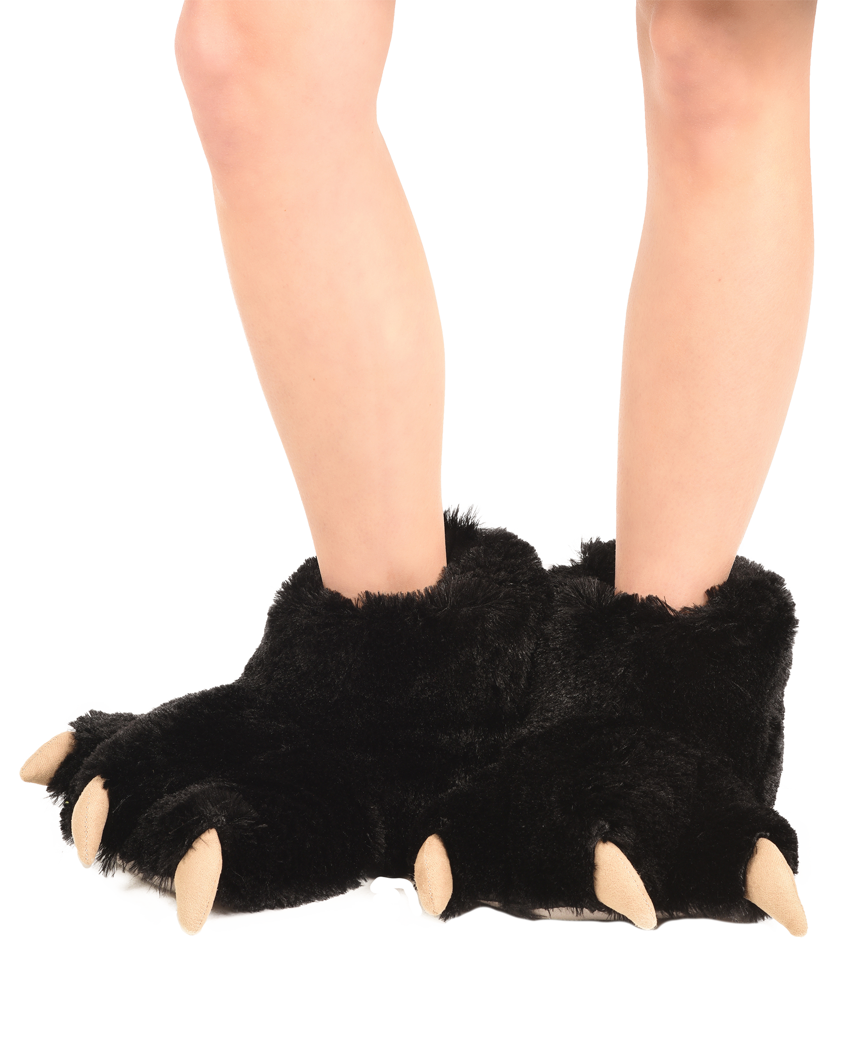 Lazy One Big Foot Brown Paw Kid Slippers Size S 9-11