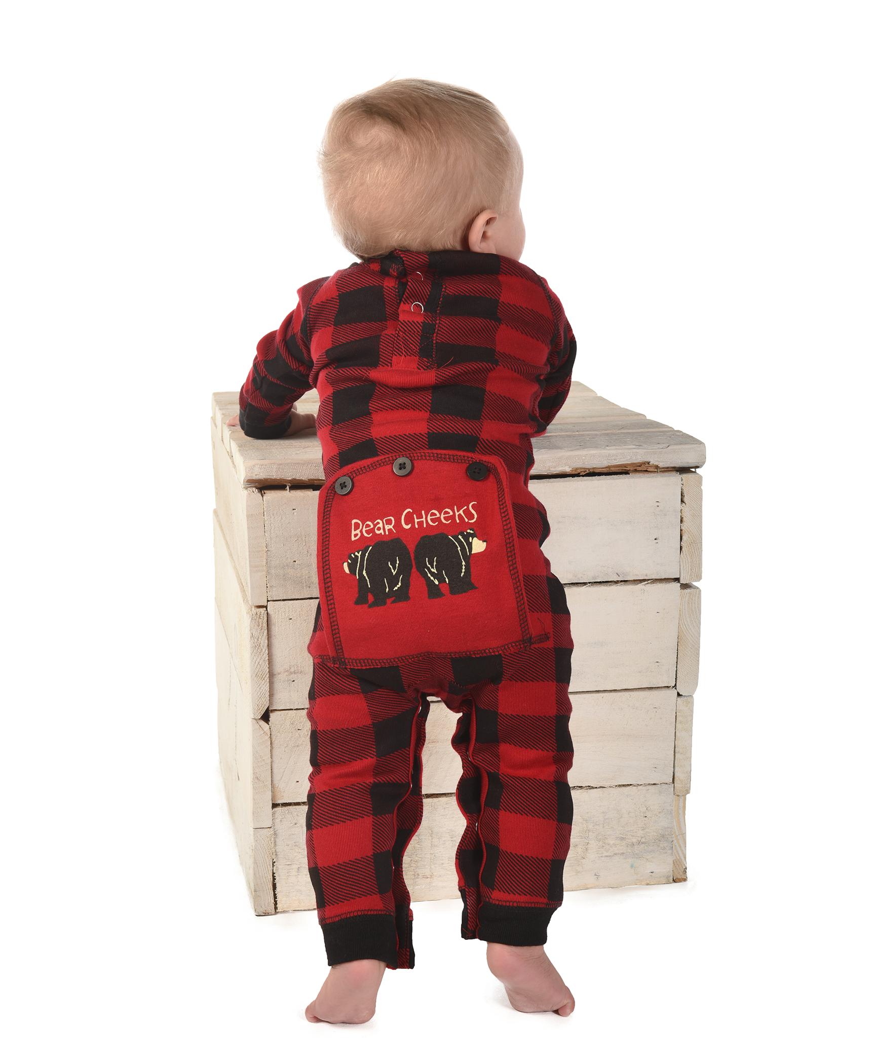 389b94769166 Bear Cheek Plaid Infant Onesie Flapjack