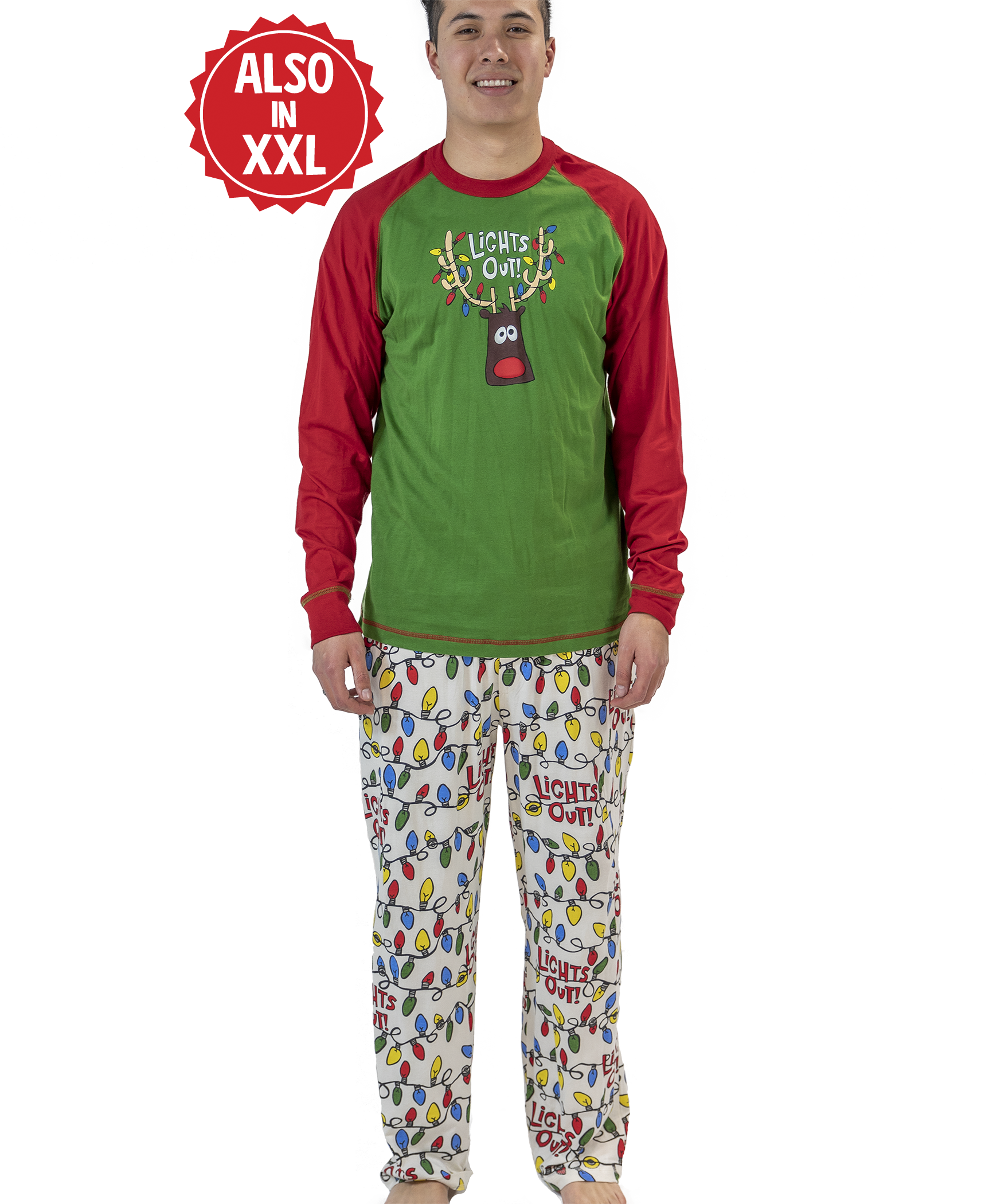 Mens Christmas Pajamas.Lights Out Christmas Men S Pajama Set