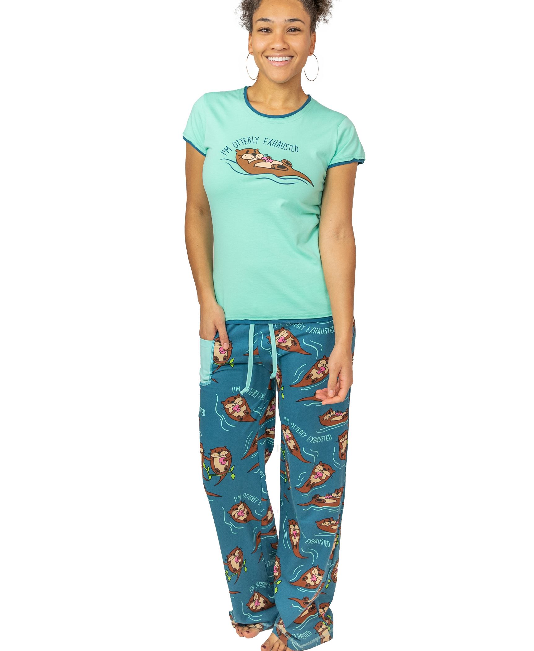 Lazyone Womens Otterly exhausted Fitted PJ Trousers
