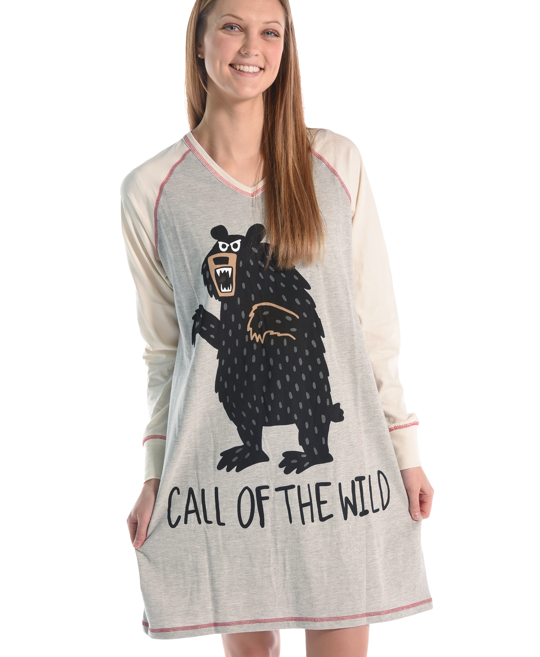 Call Of The Wild Vneck Nightshirt Lazyone